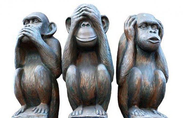 O ensinamento dos três macacos